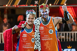 Florian Breer SUI, Marco Krattiger SUI during the ceremony on the last day of the beach volleyball event King of the Court at Jaarbeursplein on September 12, 2020 in Utrecht.