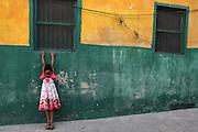 A young girl is photographed in Stone Town in Zanzibar, Tanzania.