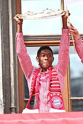 09.05.2010, Marienplatz, Muenchen, GER, 1. FBL, Meisterfeier der Bayern , im Bild David Alaba (FC Bayern Nr.27)  , EXPA Pictures © 2010, PhotoCredit: EXPA/ nph/  Straubmeier / SPORTIDA PHOTO AGENCY