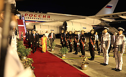 October 4, 2018 - New Delhi, Russia - October 4, 2018. - India, New Delhi. - Russian President Vladimir Putin is welcomed at the Palam Air Force Station. (Credit Image: © Russian Look via ZUMA Wire)
