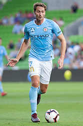 January 11, 2019 - Melbourne, VIC, U.S. - MELBOURNE, VIC - JANUARY 11: Melbourne City midfielder Rostyn Griffiths (7) controls the ball downfield at the Hyundai A-League Round 13 soccer match between Melbourne City FC and Brisbane Roar FC at AAMI Park in VIC, Australia 11th January 2019. (Photo by Speed Media/Icon Sportswire) (Credit Image: © Speed Media/Icon SMI via ZUMA Press)