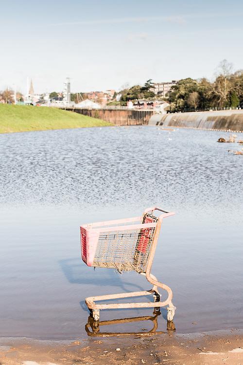 Abandoned shopping cart, Exeter, UK