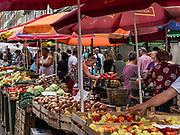 Fresh produce at a vendor stalls, Rijeka, Croatia