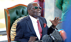 29/07/2018:Zimbabwe,Harare.Former president Robert Mugabe addressing a large  media group the eve of July harmonised elections at his Blue Roof residence.968<br /> Picture: Matthews Baloyi/AFrican News Agency (ANA)