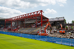 Demolition progress is seen on the Williams Stand - Photo mandatory by-line: Rogan Thomson/JMP - 07966 386802 - 09/07/2015 - SPORT - Bristol, England - Ashton Gate Stadium - Bristol Sport Preseason Sponsor Photos.