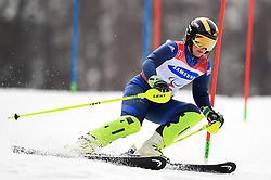 Great Britain's Millie Knight competes in the Women's Slalom, Visually Impaired at the Jeongseon Alpine Centre during day nine of the PyeongChang 2018 Winter Paralympics in South Korea.
