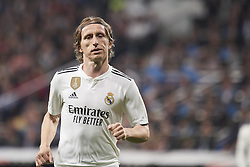 March 2, 2019 - Madrid, Madrid, Spain - Luka Modric (midfielder; Real Madrid) in action during La Liga match between Real Madrid and FC Barcelona at Santiago Bernabeu Stadium on March 3, 2019 in Madrid, Spain (Credit Image: © Jack Abuin/ZUMA Wire)