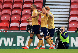 Nottingham Forest's Lewis Grabban celebrates scoring his side's second goal of the game during the Sky Bet Championship match at Riverside Stadium, Middlesbrough. Picture date: Saturday October 6, 2018. See PA story SOCCER Middlesbrough. Photo credit should read: Owen Humphreys/PA Wire.