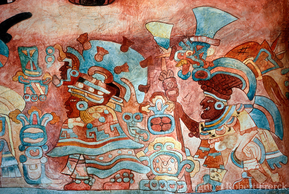 MEXICO, MEXICO CITY, MUSEUM Zapotec; priests in ceremonial dress