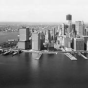 Aerial view of 55 water Street. Lower Manhattan. October 6, 1970.
