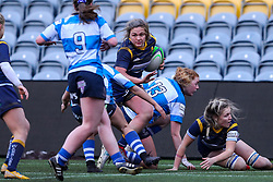 Hannah Bluck of Worcester Warriors Women tries to break through the visiting defence - Mandatory by-line: Nick Browning/JMP - 09/01/2021 - RUGBY - Sixways Stadium - Worcester, England - Worcester Warriors Women v DMP Durham Sharks - Allianz Premier 15s