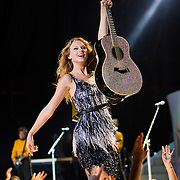 Taylor Swift perorms to one of the biggest crowds ever at Merriweather Post Pavilion in Columbia, MD.