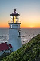 Twilight over Heceta Head Lighthouse Oregon