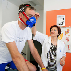 20120426: SLO, Recreation - Physiological tests of amateur riders at Sports faculty in Ljubljana