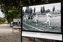 Photo of Drago Zuntar leading at 5000m in Celje, year 1967 during Opening ceremony of photo exhibition at 100 years Anniversary of Slovenian Athletic Federation, on September 17, 2020 in Tivoli park, Jakopicevo sprehajalisce, Ljubljana, Slovenia. Photo by Vid Ponikvar / Sportida