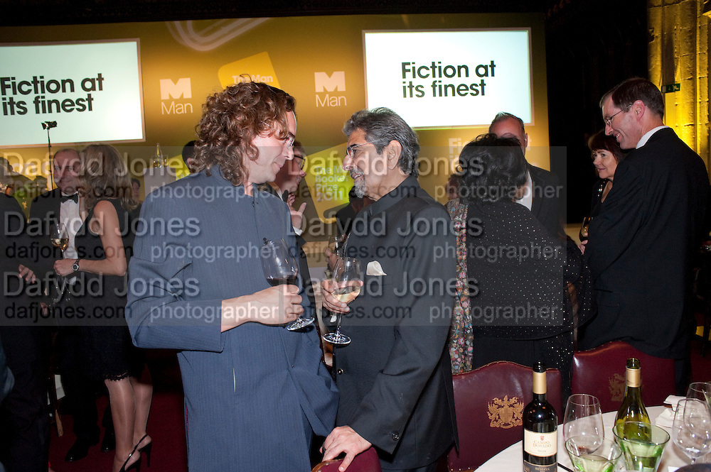 JAMIE BYNG; SONNY MEHTA, Man Booker prize 2011. Guildhall. London. 18 October 2011. <br /> <br />  , -DO NOT ARCHIVE-© Copyright Photograph by Dafydd Jones. 248 Clapham Rd. London SW9 0PZ. Tel 0207 820 0771. www.dafjones.com.