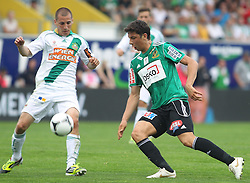 29.04.2012, Keine Sorgen Arena, Ried, AUT, 1. FBL, SV Josko Ried vs SK Rapid Wien, 32. Spieltag, im Bild Mario Sonnleitner, ( SK Rapid Wien, #6)und Robert Zulj, (SV Josko Ried, #22), during the Austrian Bundesliga Match, 32nd Round, between SV Josko Ried and SK Rapid Wien at the Keine Sorgen Arena, Ried, Austria on 20120429. EXPA Pictures © 2012, PhotoCredit: EXPA/ R. Hackl