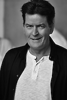 Charlie Sheen B/W Portrait