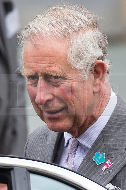© Licensed to London News Pictures . 14/05/2015 . Liverpool , UK . The Prince of Wales leaves a visit with the Duchess of Cornwall to the World Museum in Liverpool . Photo credit : Joel Goodman/LNP