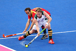 Taine Paton of South Africa during Pool MA Hockey  match between South Africa and Spain held at the Riverbank Arena in Olympic Park in London as part of the London 2012 Olympics on the 3rd August 2012..Photo by Ron Gaunt/SPORTZPICS