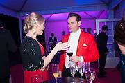 EMILY HANNIFFY; MAJ NEIL CROSS, Quorn Hunt Ball, Stanford Hall. Standford on Soar. 25 January 2014
