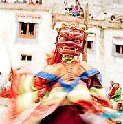 Masked dancer at the Lama Yuru Monastery, Ladakh, India