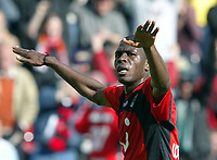 Fotball<br /> Bundesliga 2003/04<br /> Hannover 96 v Eintracht Frankfurt<br /> 8.mai 2004<br /> Foto: Digitalsport<br /> NORWAY ONLY<br /> <br /> Mohamadou Idrissou, Hannover
