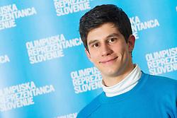 Zan Kranjec poses for a portrait during presentation of Team Slovenia for Sochi 2014 Winter Olympic Games on January 22, 2014 in Grand Hotel Union, Ljubljana, Slovenia. Photo by Vid Ponikvar / Sportida