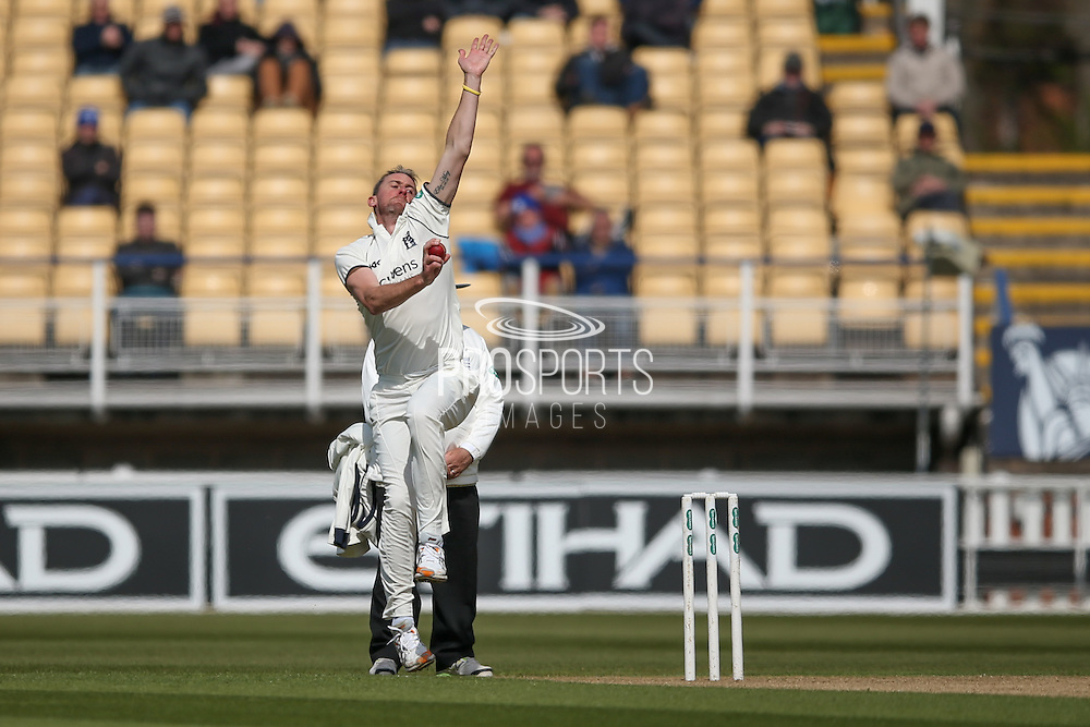 Warwickshire Rikki Clarke  during the Specsavers County Champ Div 1 match between Warwickshire County Cricket Club and Yorkshire County Cricket Club at Edgbaston, Birmingham, United Kingdom on 24 April 2016. Photo by Simon Davies.