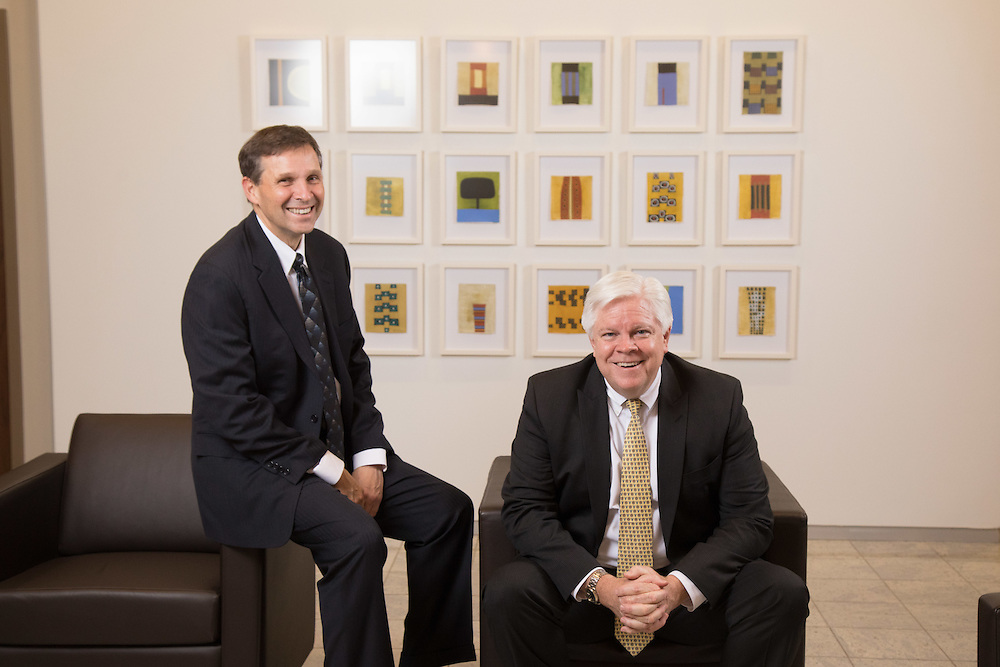 Withum CEO Bill Hagaman and Withum partner Jim Hannan in the company's New Brunswick office  . 2/7/17 Photo by John O'Boyle