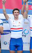 Chungju, South Korea. GBR LM4- Bronze Medalist, Adam FREEMAN-PASK <br /> 2013 Rowing Championships, Tangeum Lake, International Regatta Course.  Sunday  01/09/2013 [Mandatory Credit. Peter Spurrier/Intersport Images]