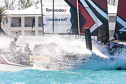 June 21, 2017 - Bermudes, USA - The Great Sound, Bermuda, 18th June. Emirates Team New Zealand wins against Oracle Team USA in race four on day two of the America's Cup. (Credit Image: © Panoramic via ZUMA Press)