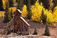The historic Yankee Girl Mine on Red Mountain Pass, San Juan Mountains, Colorado.