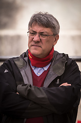 May 4, 2017 - Rome, Italy, Italy - Maurizio Landini at the Piazza Montecitorio public assembly of Workers metalworkers organized by Fiom CGIL Union to discuss the issues of the sector on public procurement in the presence of the secretary of Fiom Maurizio Landini. (Credit Image: © Andrea Ronchini/Pacific Press via ZUMA Wire)