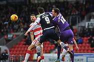 Thorsten Stuckmann of Doncaster Rovers punches the ball clear of the goal area  during the Sky Bet League 1 match between Doncaster Rovers and Millwall at the Keepmoat Stadium, Doncaster, England on 27 February 2016. Photo by Ian Lyall.