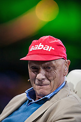"14.05.2012, Hangar 7, Salzburg, AUT, Sport und Talk, Live aus dem Hangar 7, im Bild Niki Lauda (AUT, dreimaliger Formel 1 Weltmeister) // during the Servus TV show ""Sport and Talk live at the Hangar 7, Salzburg, Austria on 2012/05/14, EXPA Pictures © 2012, PhotoCredit: EXPA/ Juergen Feichter"