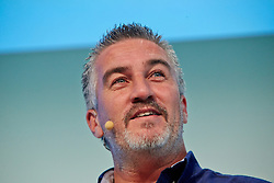 © Licensed to London News Pictures.  15/11/2013. LONDON, UK. Great British Bake Off star Paul Hollywood (pictured) gives a cookery demonstration at the BBC Good Food Show held in Olympia Exhibition Hall. The event opens today and runs until Sunday 17 November. Photo credit: Cliff Hide/LNP