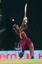 © Licensed to London News Pictures. 27/09/2012. West Indian Dwayne Bravo batting during the T20 Cricket World super 8's match between England Vs West Indies at the Pallekele International Stadium Cricket Stadium, Pallekele. Photo credit : Asanka Brendon Ratnayake/LNP