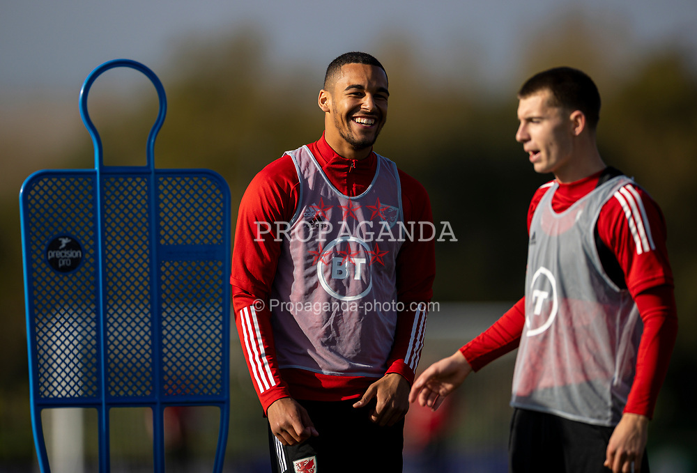 CARDIFF, WALES - Wednesday, October 7, 2020: Wales' Ben Cabango during a training session at the Vale Resort ahead of the International Friendly match against England. (Pic by David Rawcliffe/Propaganda)