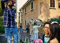 Chine, Guangdong, Guangzhou ou Canton, photo de marage sur l'ile de Shamian // China, Guangdong province, Guangzhou or Canton, wedding picture on Shamian island