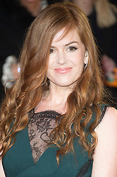 © Licensed to London News Pictures. 22/02/2016. ISLA FISHER attends the GRIMSBY Film premiere. The film centres around a black-ops spy whose brother is a football hooligan.  London, UK. Photo credit: Ray Tang/LNP