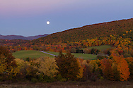 Salisbury Mills, New York -The nearly full moon rises over the Hudson Highlands and Schunnemunk Mountain on Oct.26, 2015.