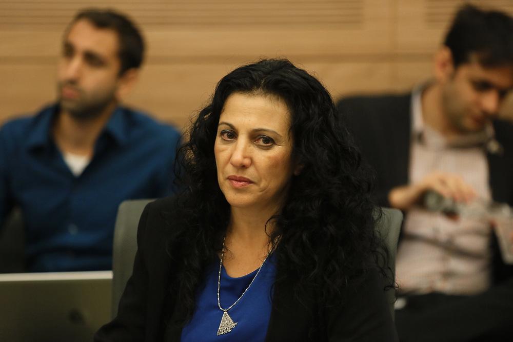Israeli lawmaker, Member of the Knesset Nurit Koren is seen  at the Knesset, Israel's parliament in Jerusalem, on July 28, 2015.