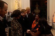 Bianca Jagger and Sir Elton John meet hiv positive women. Mario Testino, Bianca Jagger and Kenneth Cole celebrate Women to Women: Positively Speaking. - A publication to raise awareness of women living with Aids. The Orangery, Kensington Palace. 2 December 2004. ONE TIME USE ONLY - DO NOT ARCHIVE  © Copyright Photograph by Dafydd Jones 66 Stockwell Park Rd. London SW9 0DA Tel 020 7733 0108 www.dafjones.com