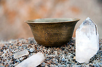 Charging quartz crystals in the Sierra Mountains. GRATITUDE