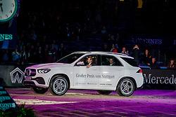 DEVOS Pieter (BEL)<br /> Stuttgart - German Masters 2019<br /> Übergabe Siegerfahrzeug<br /> LONGINES FEI Jumping World Cup™ 2019/2020<br /> Großer Preis von Stuttgart mit Mercedes-Benz, WALTER solar und BW-Bank<br /> Int. Springprüfung mit Stechen - CSI5*-W<br /> Qualifikation zum Weltcup Finale<br /> 17. November 2019<br /> © www.sportfotos-lafrentz.de/Stefan Lafrentz