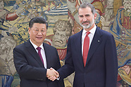 112718 King Felipe VI attends a metting with President of People's Republic of China