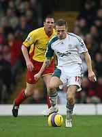 Photo: Marc Atkins.<br /> Watford v Liverpool. The Barclays Premiership. 13/01/2007.