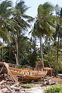 Traditional boat building in Nungwi. Zanzibar, Tanzania
