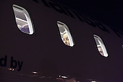 airplane passengers seen from the outside